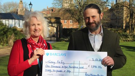 Ely-based mental health charity Talking FreELY receives £1,896 boost thanks to the fundraising effor