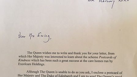 Residents at Aliwal Manor Care Home in Whittlesey received a royal treat in the post when they were