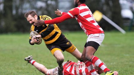 Joel Scott Paul in action for Ely Tigers during their victory against Thetford. Picture: STEVE WELLS