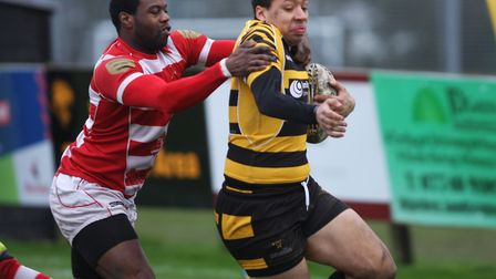 Byron Reed scored one of the Ely Tigers tries as they saw off Thetford. Picture: STEVE WELLS