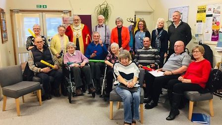 The Mayor of Ely Mike Rouse, councillors and members of the Ukel-Ely group were among the guests at