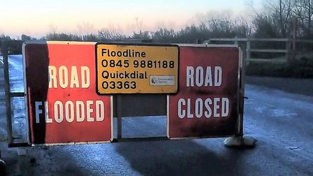 The barriers at Welney Wash are now closed after the river depth increased to nearly three meters ov