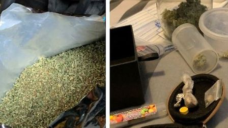 Drugs and a dart gun were seized in a raid at a house in Orchard Way, Burwell, following intelligenc