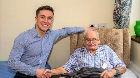 Friendships prove theres no generation gap at March care home. Picture: YOPEY/ CHRIS FELL