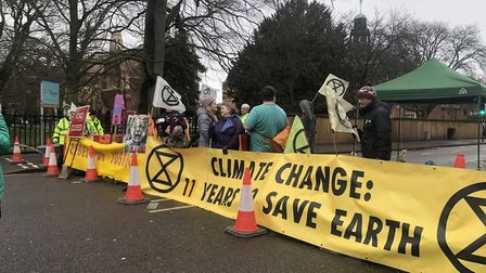 Extinct Rebellion has begun a weeklong protest n Cambridge. Expect delays if you're travelling into