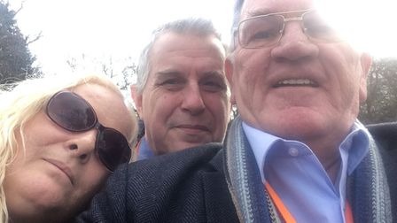 Ruth and Gary with editor John Elworthy after receiving the news. John has campaigned for six years