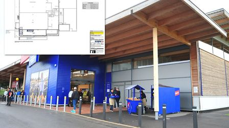 The empty unit next door to Jacks supermarket in Chatteris is where Screwfix would like to build the
