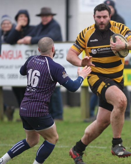 Jacob Muncey brushes aside a tackle for Ely Tigers. Picture: STEVE WELLS