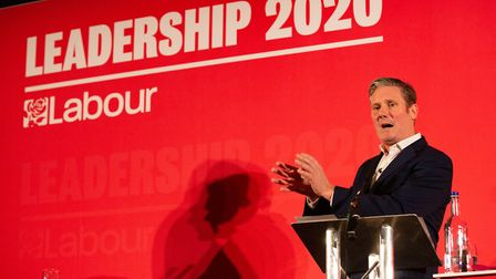 Labour leader candidate Keir Starmer pictured at the Peterborough leadership hustings at Holiday Inn