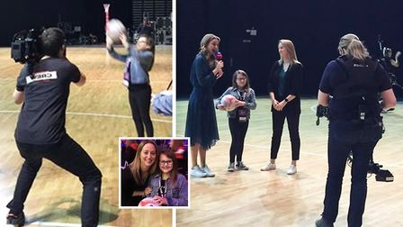 Gracie Cornwell makes her TV debut on Sky Sports after winning a competition to find young news repo
