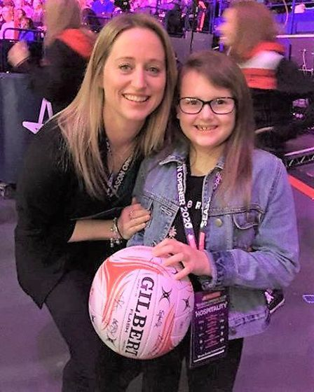 Gracie and head England coach Jess Thirlby. Picture: Supplied/Tanya Cornwell