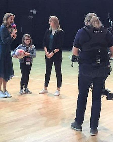 Gracie being interviewed on Sky Sports. Picture: Supplied/Tanya Cornwell
