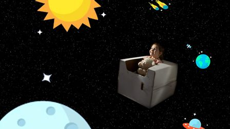 Flying through outer space. It is hoped the photoshoots will lift the spirits of poorly children.