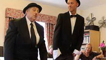 Staff at the Gables Care Home in Chatteris entertained residents with a comedy show, including The T