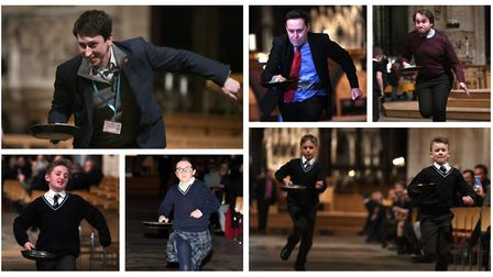 It was a flipping success for Ely Cathedral at their annual pancake race on Shrove Tuesday. Pictures