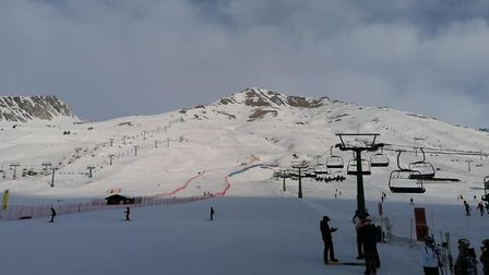 It was an idyllic skiing trip to northern Italy for students from Ely College who posted these photo
