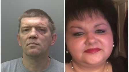 Andriejus Kostiajevas (left) has been jailed for a minimum of 28 years after killing his wife Ligita
