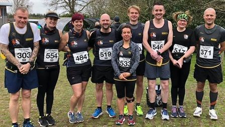 Three Counties Running Club at the Oundle 20-miler race. Picture: SARAH-JANE MACDONALD
