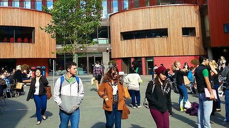 Cambridge campus of Anglia Ruskin University where all face to face teaching is to be suspended. Pic