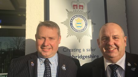 Ray Bisby (right) who took over when Jason Ablewhite (left) was forced to stand down as police and c