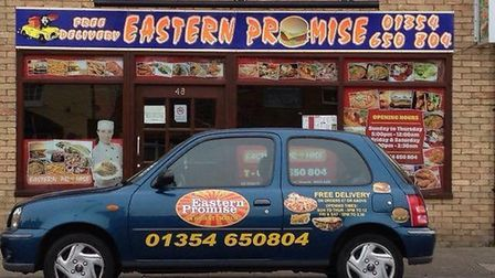 Fenland takeaways Eastern Promise (pictured) and Chilli Masters have offered to deliver essential su
