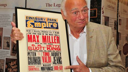 Roy Hudd who has died at 83 with his first billing at the Finsbury Park Empire Picture: DAVID GARRAD