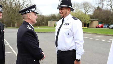 A dozen new police officers were praised by the chief constable on Wednesday March 18 as they became