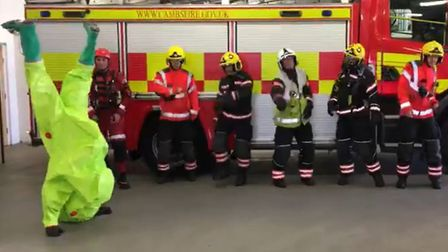 Dancing Cambridgeshire Fire & Rescue Service crew spread positivity across the country with appearan