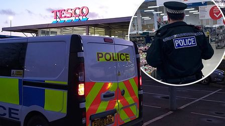 A member of staff at Hostmoor Avenue Tesco supermarket in March on Friday, March 20 amid the coronav