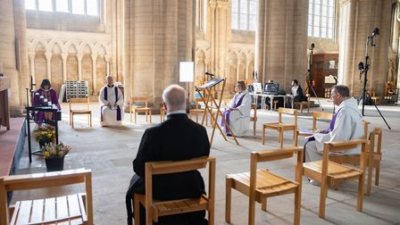 For the 1st time in its 900 year history Peterborough Cathedral conducts its Sunday service live to