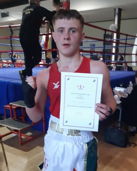 Billy Baxter after progressing to the finals of the national junior championships. Picture: AKIF SHI