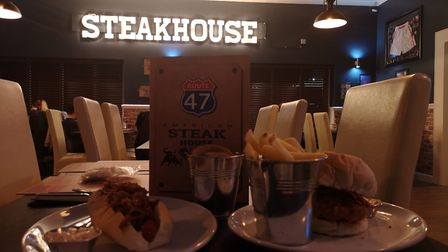 Inside the new Route 47 American Steakhouse & Grill based just off the A47 at Thorney Toll. Picture: