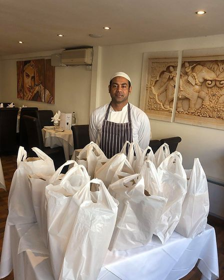 Amin Haque owner of Le Spice Indian restaurant in Fore Hill Ely is taking free Indian take aways to