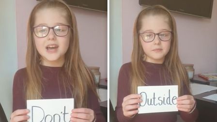 Eight-year-old Mea Howcroft from Manea has gone viral online after sending a special message to peop