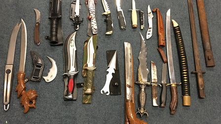 Police are starting a week-long crackdown in knife crime in Cambridgeshire. Picture: Archant