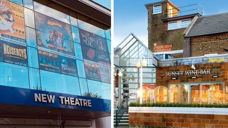 The New Theatre in Peterborough (left) and the Princess Theatre in Hunstanton (right) have cancelled