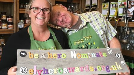 Adrian and Debbie from The Lemon Tree Deli Cafe. Picture: FACEBOOK/ELY HERO AWARDS