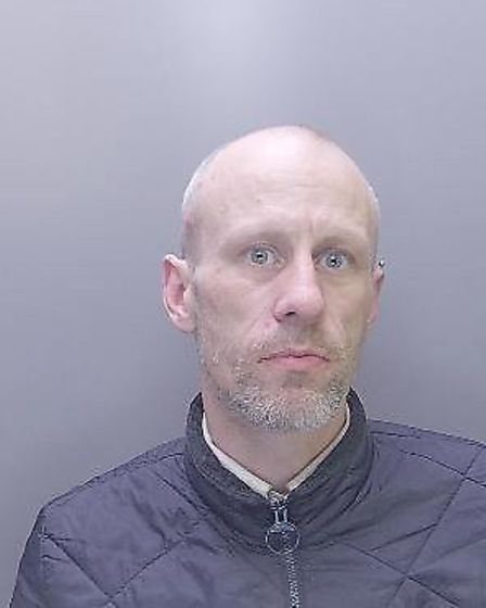 Phillip Emery (pictured) has been sentenced for waving an imitation gun at police officers during a