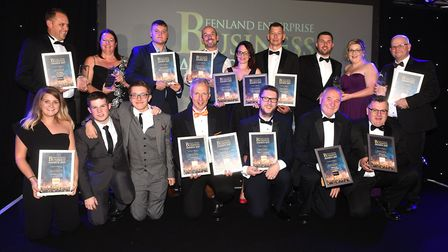 Throwback to the 2019 Fenland Enterprise Business Awards - all the winners are pictured on stage. Pi