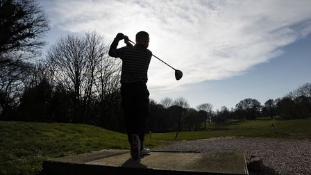 Golfers enjoying a round of golf before courses were closed due to the coronavirus outbreak.