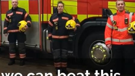The Cambridgeshire Fire & Rescue Service have shared a video urging people to 'be a hero' by staying