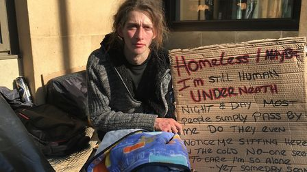 Beth Hunt (pictured), says she has been sleeping rough in Cambridge for around five years. Picture: