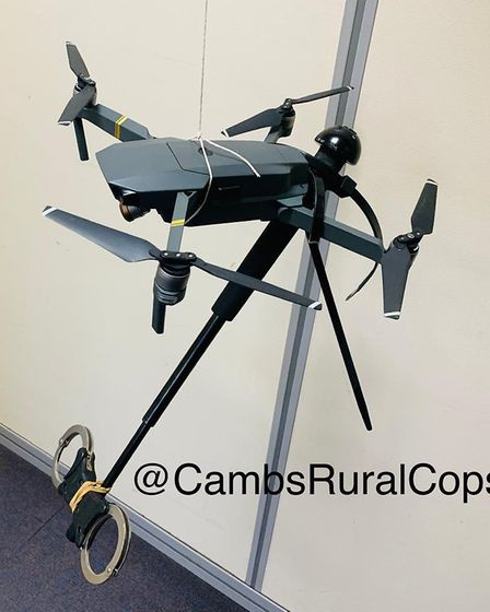 The made-up device said to be used in order to make remote arrests by Cambridgeshire Police. Picture
