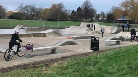 West End skate park in March has been closed. Picture: FENLAND DISTRICT COUNCIL