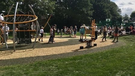Benwick play area has also been closed due to the coronavirus pandemic. Picture: FENLAND DISTRICT CO