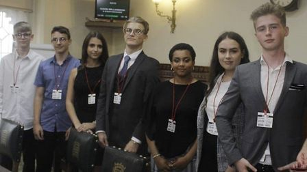 Members of the Cambridgeshire Youth Panel who are helping provide Google Chromebooks during the pand