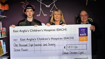 Soham grandparents Helen and John Attlesey raised a record-breaking £1,800 for the East Anglias Chil