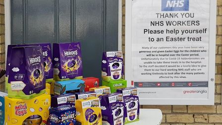 Rail passengers across Cambridgeshire have been donating Easter eggs to NHS workers. Picture: GREATE