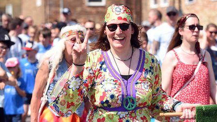 All the fun at the fair hundreds lined the high street in Chatteris for the towns annual midsummer