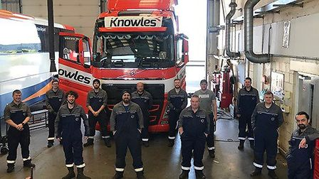 The team of technicians from Volvo Truck and Bus Centre in Ely helped Knowles Transport to cope with